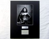 vintage Ava Gardner Autograph Autographed Signed Display Art Piece black and white photograph photo artwork