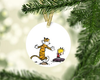 Calvin and hobbes ornament | Etsy