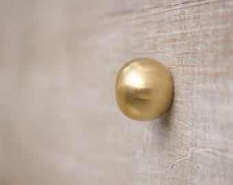 Solid brass drawer pull