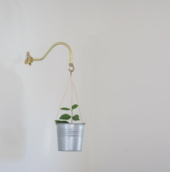 Solid Brass Wall Planters
