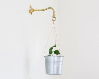 Solid brass planter hanger-Brass wall hanger-Brass wall hook-Brass planter hook-Brass hanging plant bracket hook
