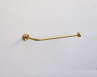 Solid Brass Paper Towel  Holder, Under Cabinet paper Towel  Holder or on the wall, Modern Brass Paper Towel  Holder,