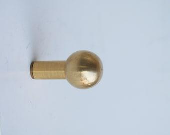 Solid brass ball Wall Hook-Modern brass Wall Hook-Brass Wall Hook  -Modern Wall Hook - robe hook-hat hook