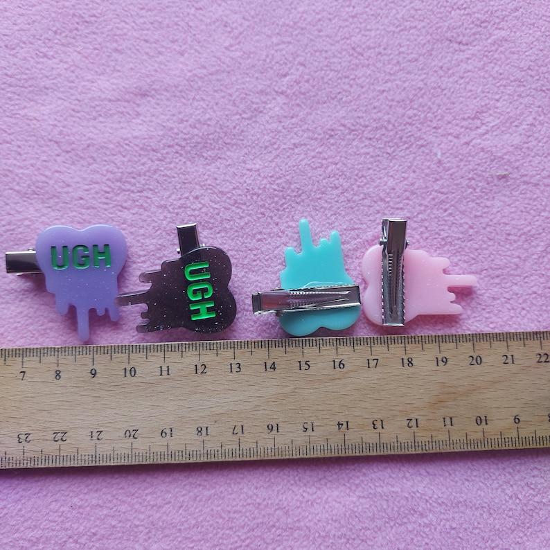 Kawaii cute small resin bat halloween hairclips lolita fairy kei pastel goth dolly party kei punk grunge creepycute gothuc