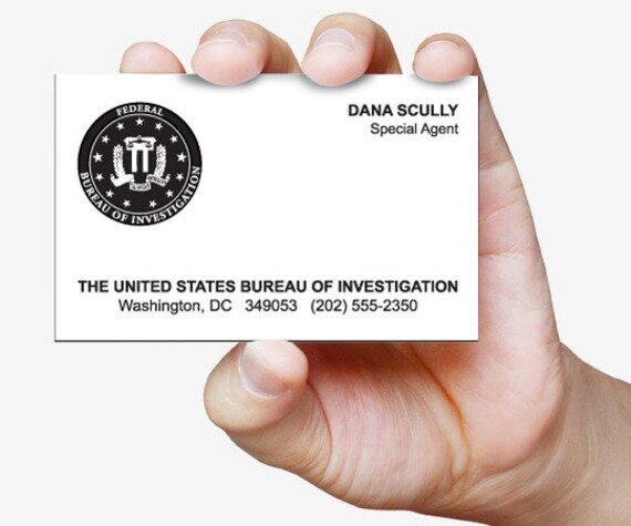 Carte De Visite Dana Scully X Files