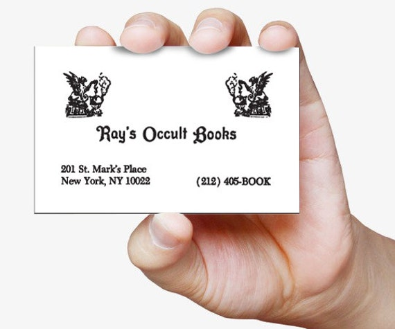 Carte de visite - Ray's Occult Books - Ghostbusters 2