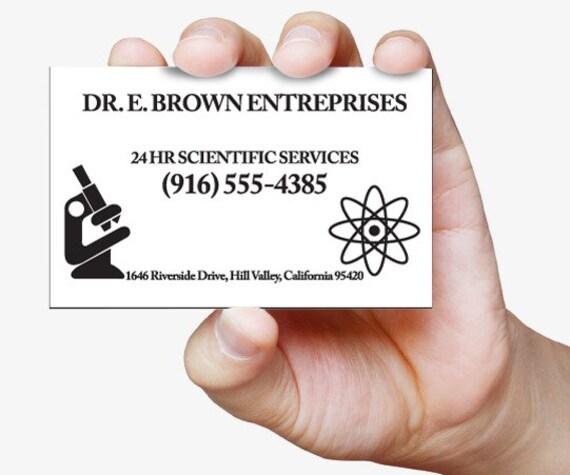 Carte De Visite Doc Brown Retour Vers Le Futur