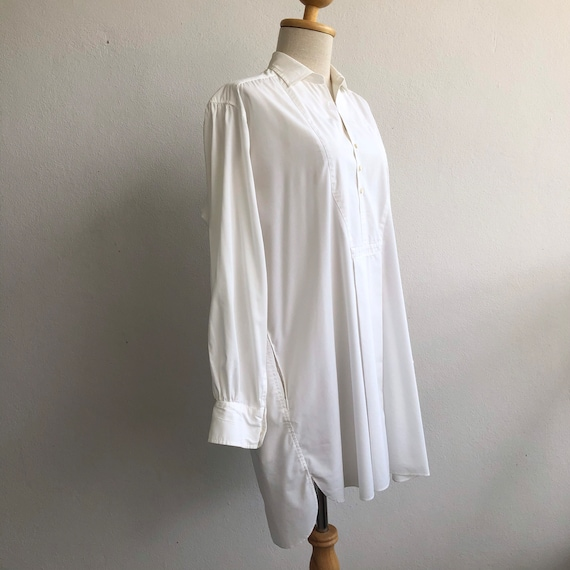 VINTAGE 100% Cotton Pyjamas Shirt Dress