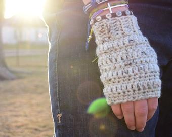 Double Stripe Fingerless Gloves