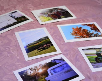 Country Themed Photo Cards Pack of 6