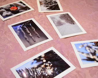 Winter Themed Photo Cards Pack of 6