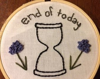 end of today embroidery