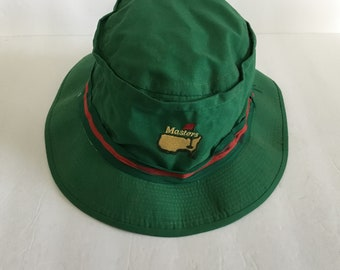 b12d44aa8cd Vintage Masters Authentic Green Bucket Hat Size Fits Sm-Med