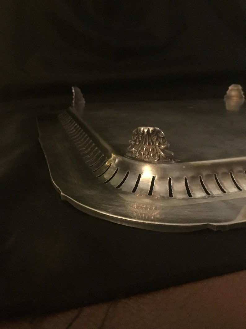 1920-1950 Brooklyn NY Beautiful 1940\u2019s Square Silver Plated Serving Tray By Continental Sheffield Silver Co