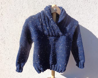 boys size 4t trucker shawl collar pullover and acrylic