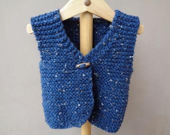 knitted vest sleeveless boys 6 months