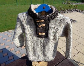 boys 4t trucker knitted collar sweater