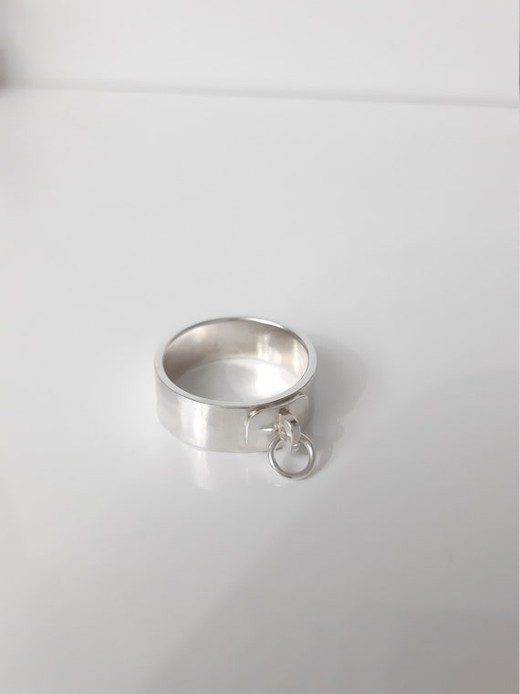BDSM Schmuck Submissive Ring BDSM O Ring Story of O Ring BDSM Ring of O Ball with Zircon 12 mm Clevis