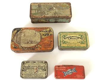 Very old Tin boxes / Art nouveau / vintage