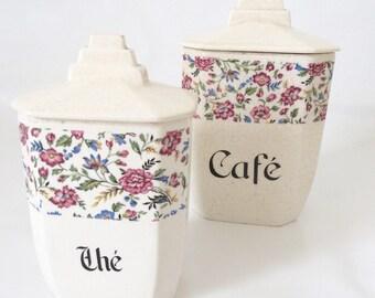 Sugar & coffee pots / art deco / vintage