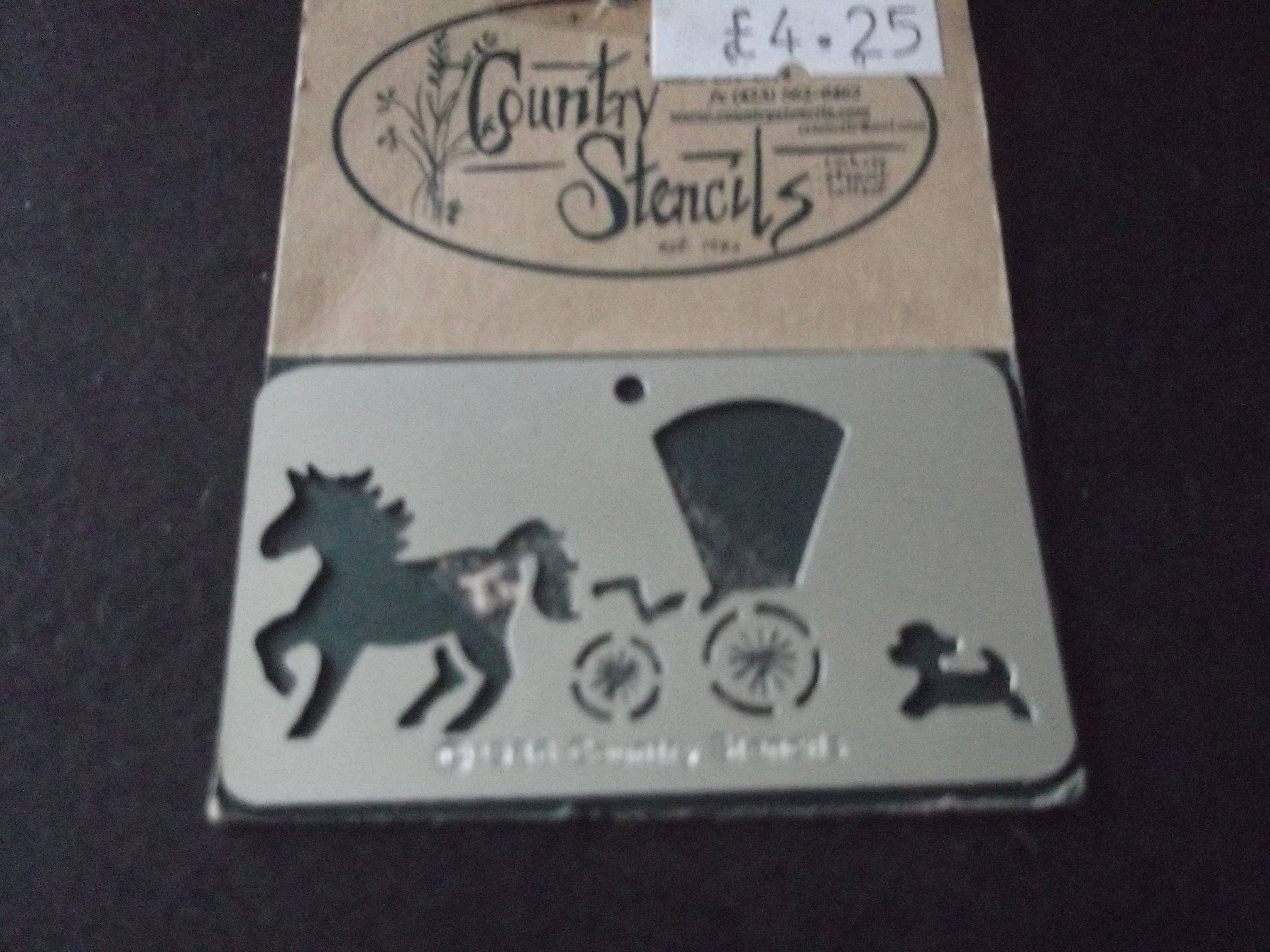 Horse and cart reusable stencil and embossing template   Etsy