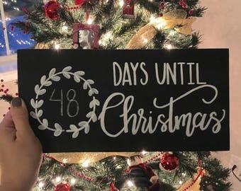days until christmas sign christmas countdown wood sign christmas sign christmas chalkboard sign farmhouse christmas rustic christmas - Number Of Days Until Christmas