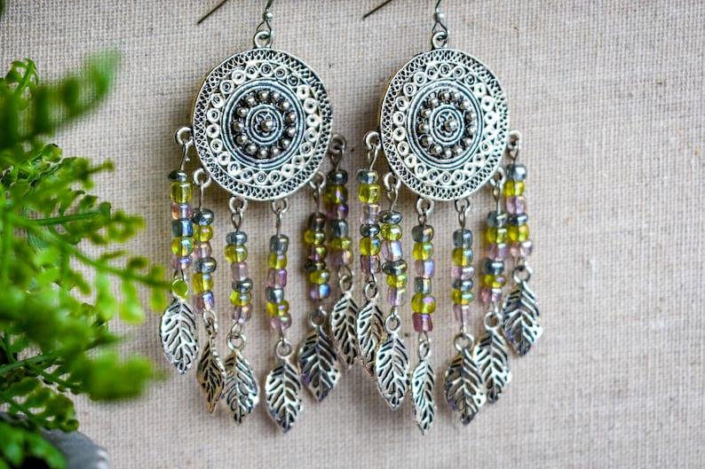 Dreamcatcher Earring Colourful Earrings. Festival Fashion