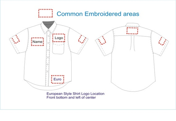 Embroidery Placement Guide Etsy