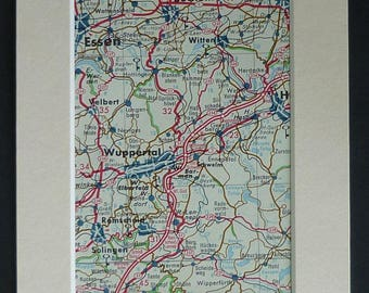 Germany Map Wall Art Etsy