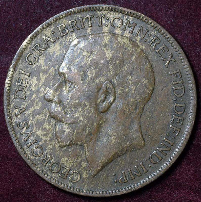1921 One Penny coin KGV