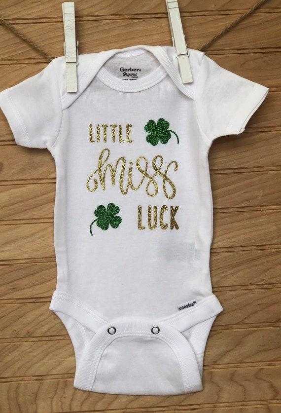 Lucky Baby Onesie St Patty/'s Day Onesie Loved And So Lucky St Patrick/'s Day Gerber Baby Onesie Cute Holiday Onesie