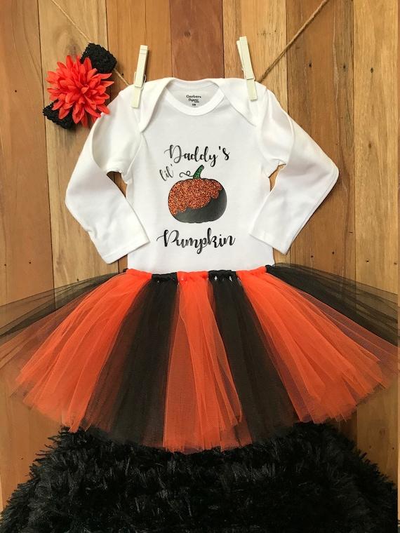 daddys girl halloween my 1st halloween baby girl outfit baby girl my first halloween outfit daddys little pumpkin baby girl outfit