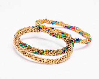 African Beaded Bangles