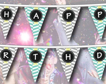 Happy Birthday Letters Bunting