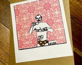 Tea Time Handmade Offbeat Collage Card