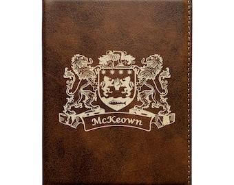McKeown Irish Coat of Arms Leather Passport Wallet