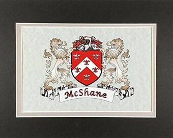 "McShane Irish Coat of Arms Print - Frameable 9"" x 12"""