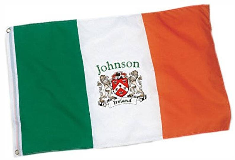 Johnson Irish Coat of Arms Flag - 3'x5' foot