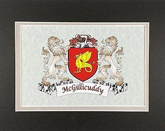 "McGillicuddy Irish Coat of Arms Print - Frameable 9"" x 12"""