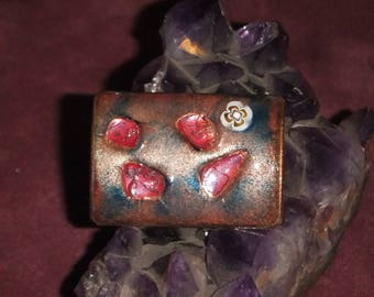Enamel on Copper Brooch