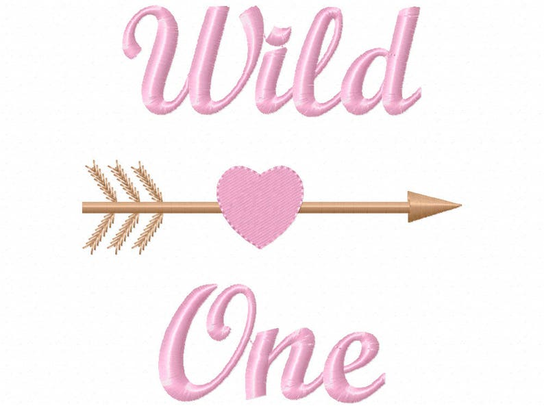 Wild One Design Machine Embroidery Instant Download Etsy