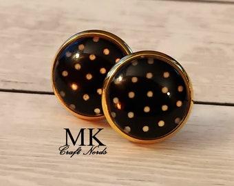 Polka Dots Post Earrings