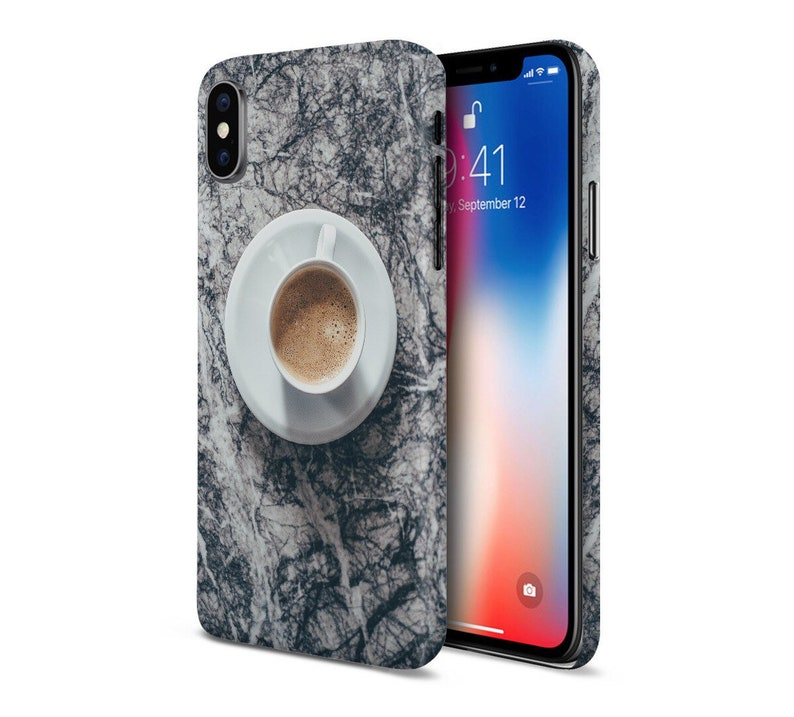 Morning Coffee x Black Marble phone case for apple iphone image 0