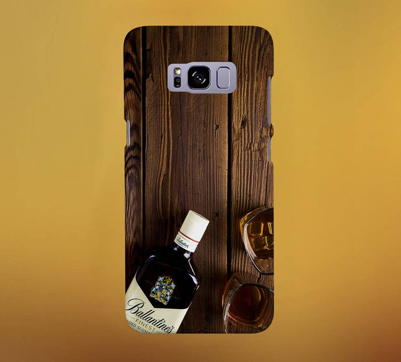 Scotch Alcohol Wood Grain Phone Case for iPhone Galaxy Note image 0