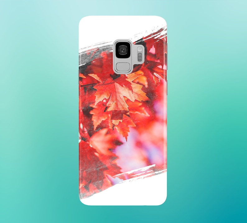 Red Leaves x White Snow Phone Case for apple iphone samsung image 0