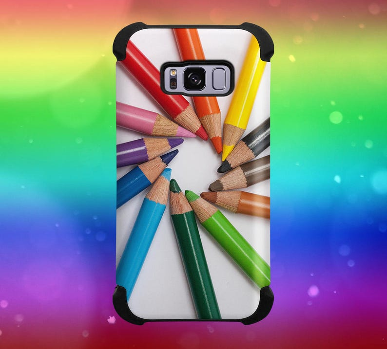 Creative Art Color Pencils Phone Case for iPhone Galaxy Note image 0