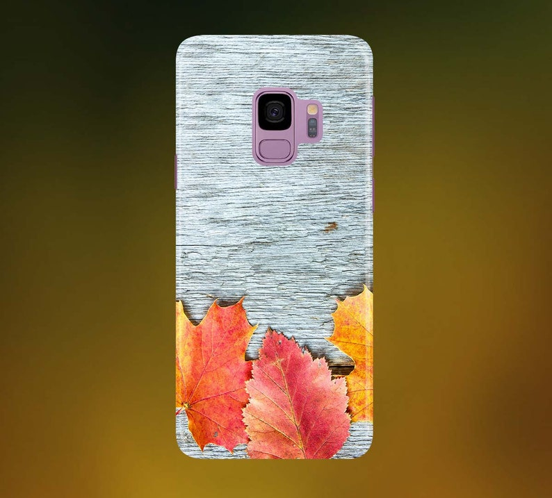 Gray Wood with Leaves Phone Case for apple iphone samsung image 0
