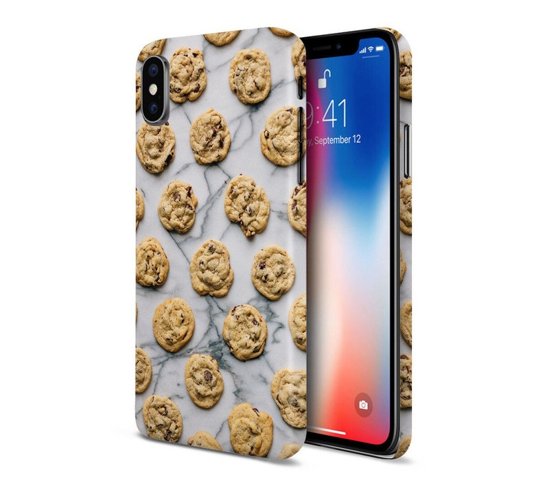 Marble Chocolate Chip Cookies phone case for apple iphone image 0