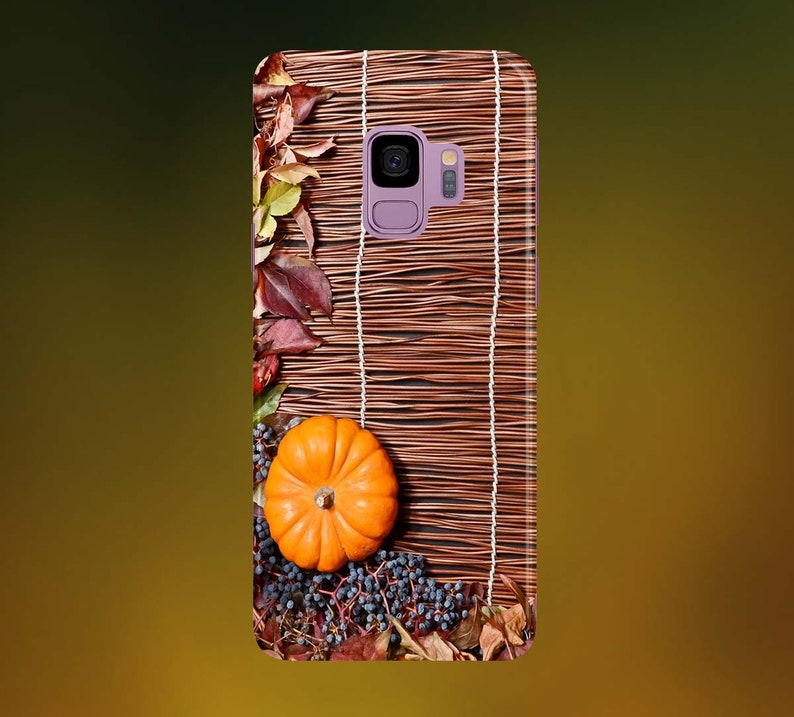 Autumn Leaves with Pumpkin Phone Case for apple iphone image 0