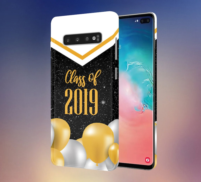 Congratulations Class of 2019 x White x Gold Balloons phone image 0
